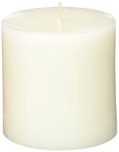 Zest Candle Pillar Candles, 3 by 3-Inch, White Citronella