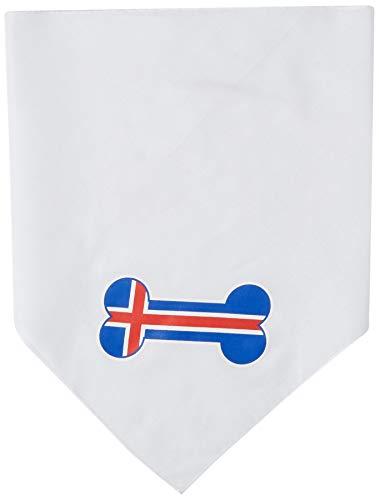 Mirage Bone Vlag IJsland Screen Print Hond Bandana