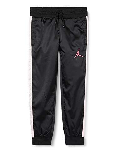 NIKE - Jordan Open Lane Shine Pant, Pantalones Deportivos para niña, Niñas, Pantalones Deportivos, 457128, Negro, 12-13 años
