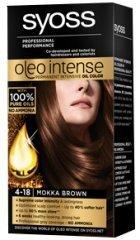 Syoss Oleo Intense Haarfarbe, 100 % reine Öle, 0 % Amoniak, 4-18, Mokka Brown