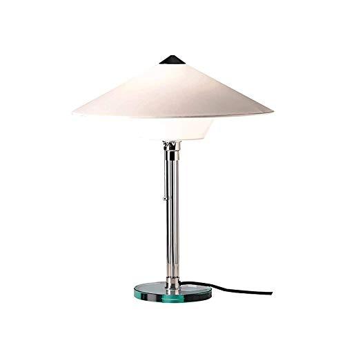 Tischlampe Wagenfeld E27 Tischlampe Moderne Tischlampen im Bauhausstil Schlafzimmer Nachttischlampe Wohnzimmer Büro LED Schreibtischlampe Leselampe Metall Tischlampen Glasfuß Zugschalter Bettlampe