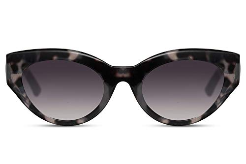 Cheapass Sunglasses V Ojos de Gato Fashion Gafas Camuflaje Montura Demi y Lentes Oscuras Protección UV400 Mujeres