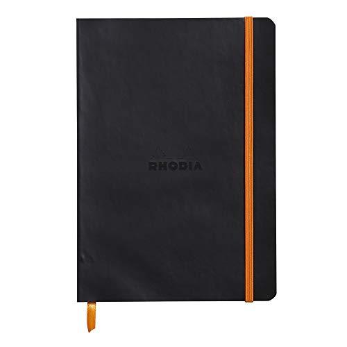 Rhodiarama Notebook Black 6X8.25 Lined