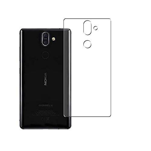 Vaxson 2 Stück Rückseite Schutzfolie, kompatibel mit Nokia 8 Sirocco, Backcover Skin TPU Folie [nicht Panzerglas/nicht Front Bildschirmschutzfolie]