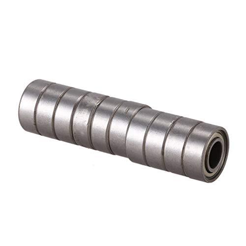 SODIAL 10 piezas rodamientos de bolas radiales profundos en miniatura de 6mm x 13mm x 5mm 686Z
