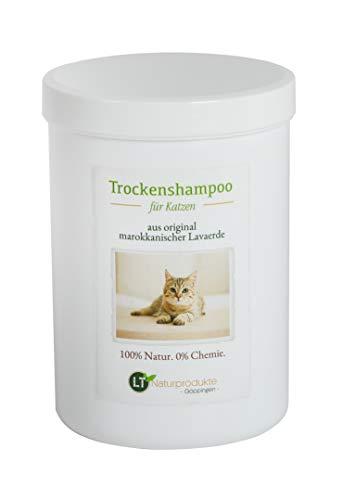 Trockenshampoo für Katzen - mit original marokkanischer Lavaerde | Vegan und Bio | zur chemiefreien Fellpflege | 1 kg