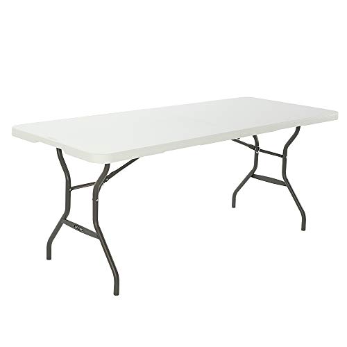 LIFETIME Multiusos, Resistente, UV100, Blanco, Mesa plegable 183x76x74 cm, 80280