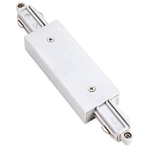 Längsverbinder für 1-Phasen HV-Stromschiene, mit Einspeisemöglichkeit, weiß