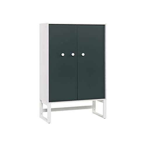 Petite armoire 2 portes Nest - Blanc Gris