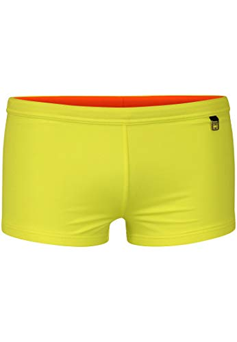 HOM - Herren - Swim Shorts \'Sunlight\' - Hochwertige Badeshorts in Trendfarben - Yellow - L