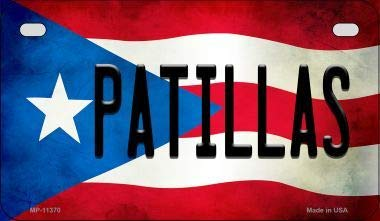 Bargain World Patillas Puerto Rico State Flag License Plate Motorcycle License Plate (With Sticky Notes)