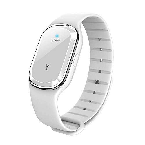 Super Shield Mosquito Repellent Watch Band Ultrasonic and Electronic (White)