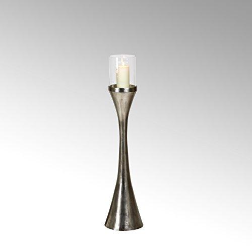 Lambert Laza Bodenwindlicht rd klein Verni H108cm Metallaccesoires, Vernickelt, matt Nickel, One Size