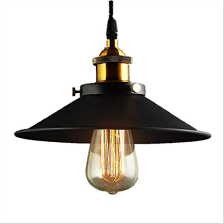 D&N Kreative Pendelleuchte Vintage Industrial Hngelampe deckenleuchte Retro Hngeleuchte Metall für E27 Leuchtmittel Pendellampe geeignet für Wohzimmer Esstisch Küche Wohnzimmer(schwarz)