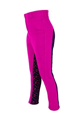 Horseware Loveson Knit Print Kinder Reithose Pink/Marineblau, 24