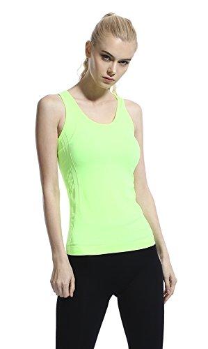 ジュナナ jnana スポーツウェア レディース 速乾 タンクトップ ヨガウェア フィットネスウェア 全8色 Tシャツ グリーン L