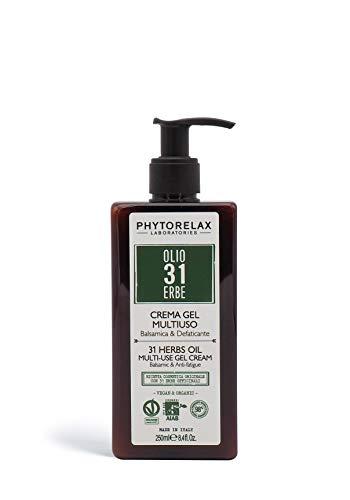 PhytorelaxLaboratories Olio 31 Erbe Vegan & Organic - Crema Gel Multiuso - Balsamica E Defaticante - 250 ml