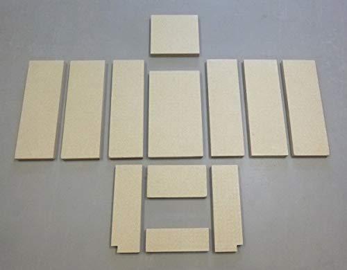 Feuerraumauskleidung A für GKT Alosa Lido II Kaminöfen - Vermiculite - 12-teilig