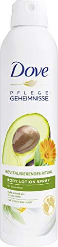 Dove Pflegegeheimnisse Body Lotion Spray Revitalisierendes Ritual mit Avocadoöl, 190 ml