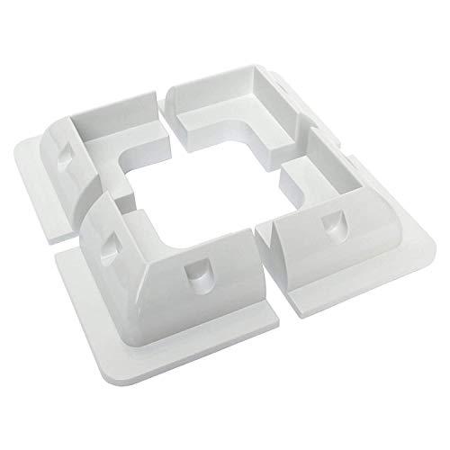 Juego de 4 soportes de montaje de esquina de plástico para