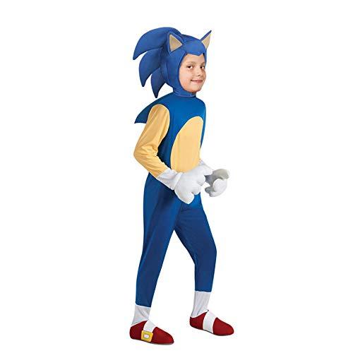 NiQiShangMao Anime Sonic Cosplay Overall Kinder Mädchen Jungen Videospiel Charakter Rollenspiel Halloween Kid Karneval Party Kostüm