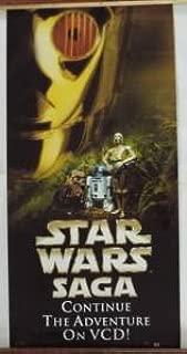 SUPER RARE Hong Kong STAR WARS SAGA Continue The Adventure On VCD Glossy Poster 30