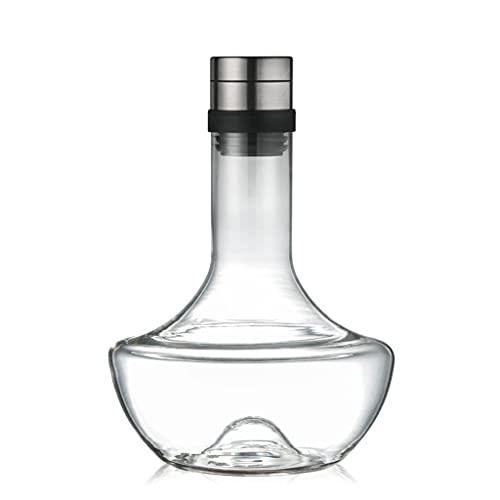 HEYLULU Decantador de Cristal ine Aireador de Mano Jarra de Vino Vaso de Cristal Rojo Decantador de Vino Decantación rápida Accesorios de Vino Decantadores de Vino de Regalo Transparente