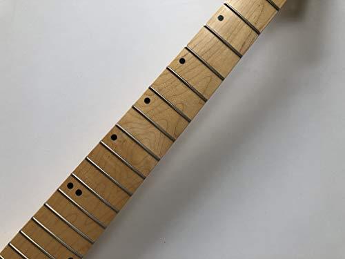 7 cuerdas guitarra eléctrica cuello 24 trastes 25.5 pulgadas arce diapasón DIY piezas brillo