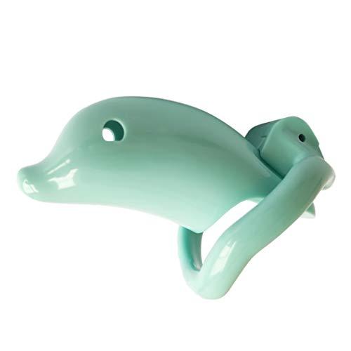 CNBByu Creative Design Resin Chastìty Cage Detachable 3D JJ Box Â-dult Virginity Toy for Men Comfortable Daily Wear T-Shirt Fidget Toys T-Shirt Sunglasses (Color : Green)