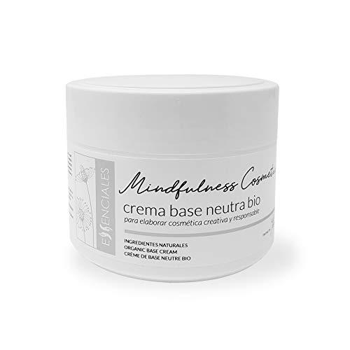 Essenciales - Crema Base Neutra Bio de Mindfulness Cosmetics 300 ml | Con Aceites de Almendra, Pepita de Uva y Coco Ecológicos