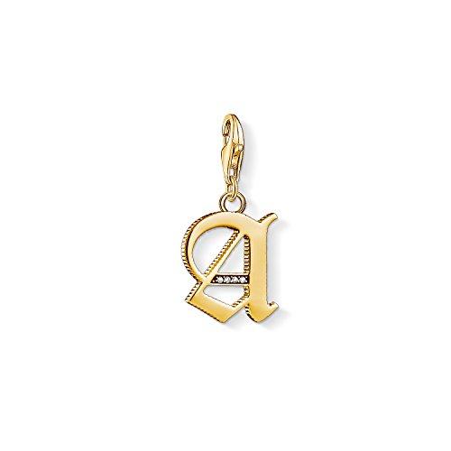 Thomas Sabo Damen-Charm-Anhänger A Buchstabe Gold Charm Club 925 Sterling Silber 1607-414-39