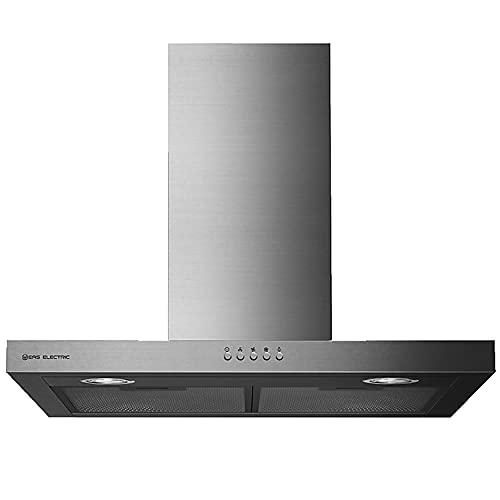 EAS ELECTRIC SMART TECHNOLOGY | EMRH706X | Campana extractora | Campana de pared | Anchura de 70 cm | Color Inox | Control Mecánico | 3 niveles | LED | 3 filtros lavables | capacidad de 600 m3