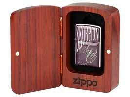 Original Zippo Art - Scorpion 2 in Holz Geschenkdose!