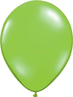 ゴム風船 Qualatexバルーン(ラウンド無地ジュエルカラー)ジュエルライム 16インチ(直径42cm) 50個入り/袋