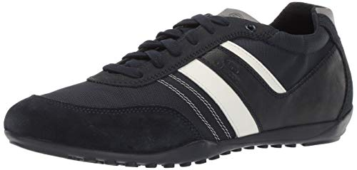 Geox Herren GARLAN 1 LACE UP Sneaker Turnschuh, Navy