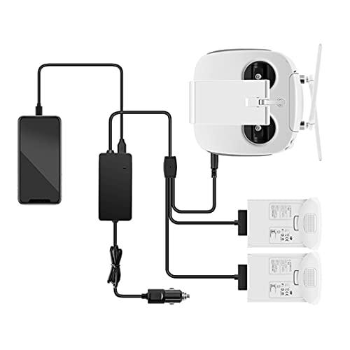 3 in 1 Batteria Auto Caricabatterie per DJI Phantom 4 Pro Drone Telecomando and Batteria portatile Caricabatterie
