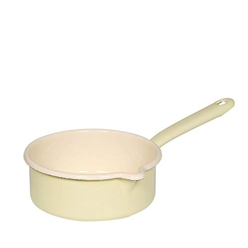 Riess  0037-006 Classic-Household Articles Colour/Pastel Saucepan with Spout, Diameter-16 cm  Yellow