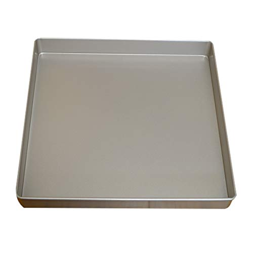 Nonstick Square Baking Pan, 11×11 Inch Carbon Steel Cake Baking Sheet, Cookies Bakeware for Oven Baking Gold