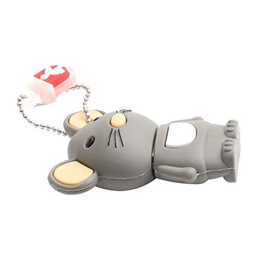KESOTO Cute Animal Flash Drive USB2.0 Novedad Dibujos Animados Forma de Conejo Pen Drive Almacenamiento de Datos Thumb Drive Jump Drive Divertido Memory Stic - 64M
