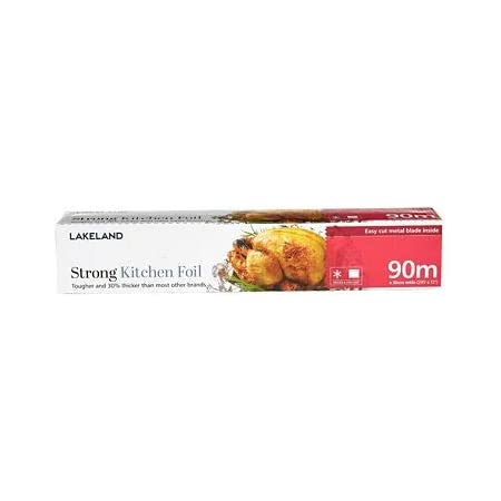 Lakeland Exclusive Strong Aluminium Thick Kitchen Foil In Cutter Box 30cm X 90m Amazon Co Uk Grocery