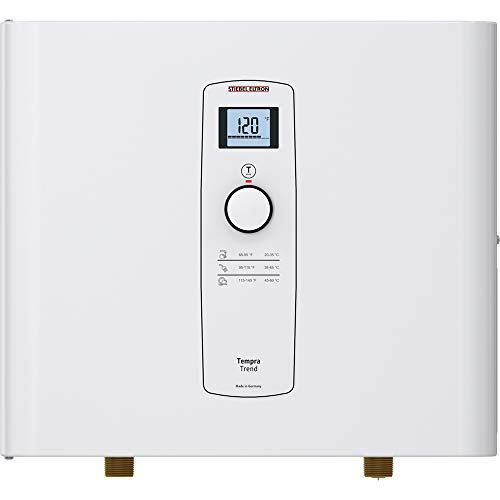 Stiebel Eltron Tankless Water Heater - Tempra 15 Trend – Electric, On Demand Hot Water, Eco, White