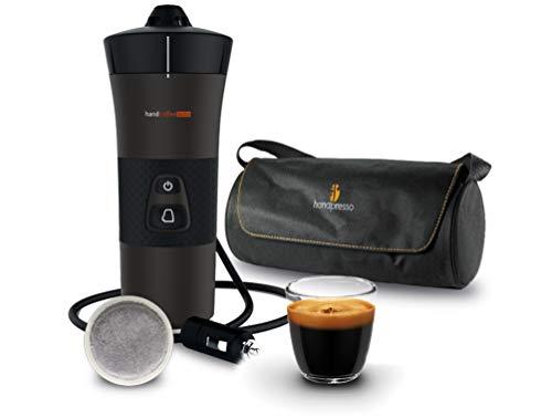 Handpresso - Handcoffee Auto 48264 + bolsa 48325 – Máquina de café portátil con dosis Senseo para coche 12 V