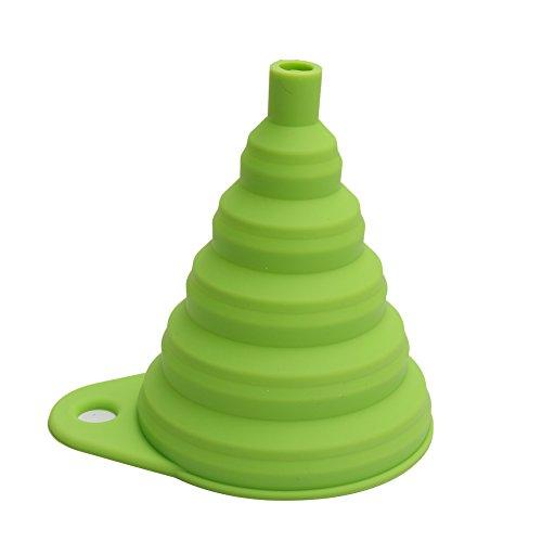 Pinzhi Embudo de Silicona Plegable Color Verde