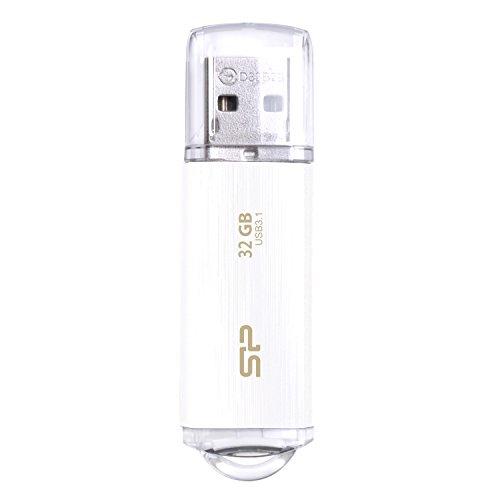シリコンパワー USBメモリ 32GB USB3.1 & USB3.0 ヘアライン仕上げ 永久保証 Blaze B02 ホワイト SP032GBUF...
