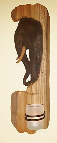 Dallaknaller Wandteelichthalter holzrelief Elefant EG-49