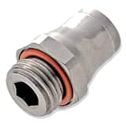 316L Stainless Steel 4 mm and M5X0.8 mm Push-to-Connect and Metric Run Tee Parker 171PLS-4M-M5 Prestolok PLS Push-to-Connect Fitting Tube to Pipe