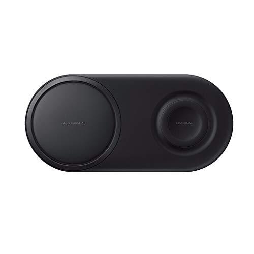 12shage_Wireless Charger Pad für Samsung Galaxy S10 / S10 + / Uhr S2 / 3, 2 in 1 Schnellladung gut für den Einsatz zu Hause, im Büro oder im öffentlichen Bereich (Schwarz)