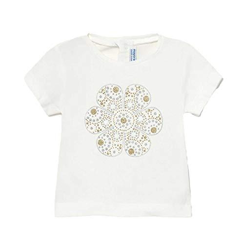 Mayoral Camiseta de manga corta con cuello redondo con impresión de niña color crema 105 crema 2 Años