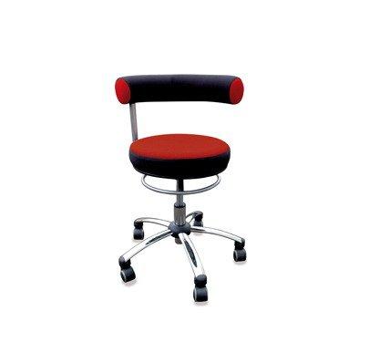 Sanus Gesundheitsstuhl Erzieherstuhl, Sitzhöhe standard (42-51 cm), Stoffbezug, rot/schwarz