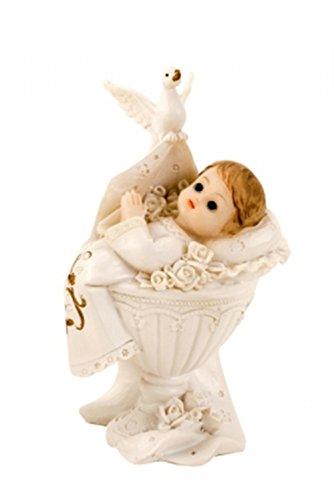 Wurm Tortenaufsatz Tortenfigur Dekofigur Baby Tauffigur Taufe Geburt Taufbecken Taufbrunnen | 11 cm (Mädchen)